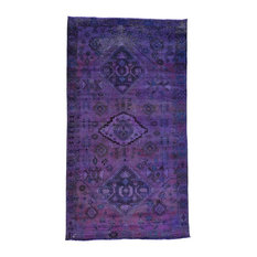 Hand-Knotted Purple Overdyed Persian Bakhtiar Gallery Size Rug