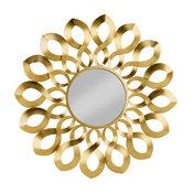 Gold Metal Wave Starburst Accent Mirror