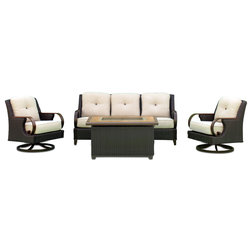 Tropical Outdoor Lounge Sets by Courtyard Casual