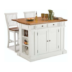 home styles furniture kitchen island and stools set white and distressed oak kitchen