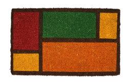 Color Blocks Handwoven Coconut Fiber Doormat