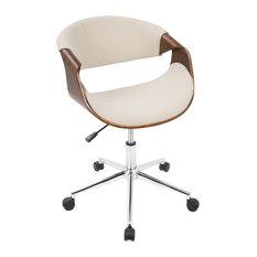 Midcentury Modern Office Chairs Houzz - Cream desk chair