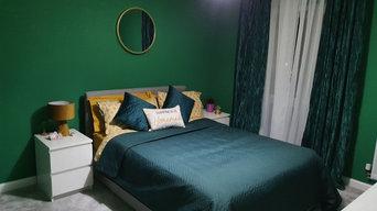Fresh Bright Green Bedroom
