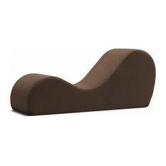 Avana Chaise Lounge Yoga Chair, Brown