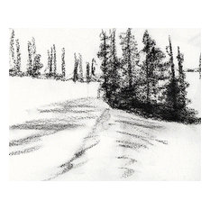 "Bring home Dear Valley, Utah with ""Shadowed Snow"" charcoal on paper by Ann Rea"