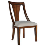 Standard Manufacturing Co - Insignia Side Chair, Set of 2 - Sculptural lines and Danish styling, insignia's mid century modern appeal excudes flawless style. Notice its sinuous lines and scoop back chairs with slip seats finished in a golden brown walnut.
