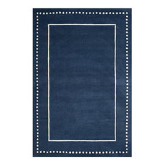 Safavieh Bella BEL151G Navy Blue/Ivory Rug, 6'x9'Rectangle