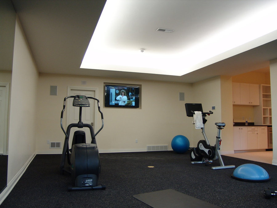 Home Gym Television Installation