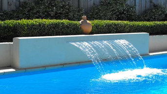 Landscape Project - Pool with Fountain & Spa