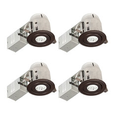 Globe Electric - 3  Oil Rubbed Bronze LED Recessed Lighting Kit 4 Pack -  sc 1 st  Houzz & Contemporary Oil-Rubbed Bronze Recessed Lights | Houzz azcodes.com