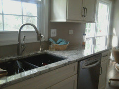 What color sink with light counters?