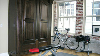 Gothic Armoire Murphy Bed in Exercise Room
