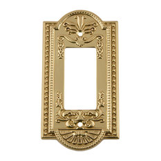 NW Meadows Switch Plate With Single Rocker, Unlacquered Brass