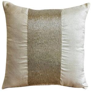 Silk White Sparkle Decorative Cushion Cover, 30x30cm