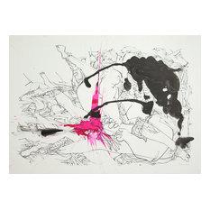Dimitri Petrov, Positive Drawing III, Ink Wash Drawing