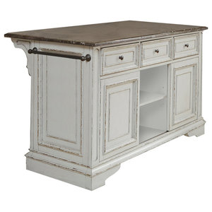 Simple Office Room Design, Paula Deen Home Dogwood 599644 The Kitchen Island Gray Traditional Kitchen Islands And Kitchen Carts By The Sleepers Shoppe