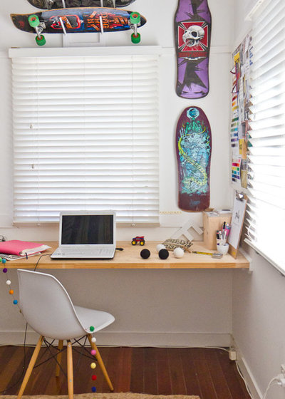 Beach Style Home Office by Walk Among The Homes