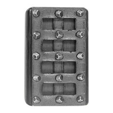 HawkHillHardware   Medieval Bolt Cover Universal, Black Iron   Door Locks