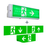 Modern Rectangle Wall Lamp Emergency Exit - Emergency