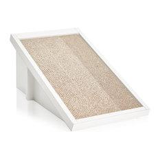 Way Basics - Eco Cat Scratcher Incline,Cat Scratching Pad, Non Toxic zBoard, White - Cat Furniture