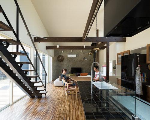 cuisine moderne avec un plan de travail en carrelage photos et id es d co de cuisines. Black Bedroom Furniture Sets. Home Design Ideas