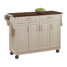home styles furniture createacart white with cherry top kitchen