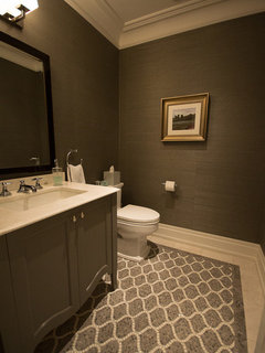 What Size If Floor Tiles Work Best In A Small Powder Room