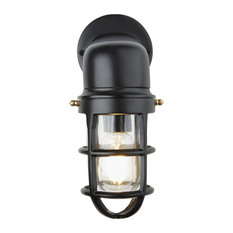 Bulkhead Outdoor & Bathroom Sconce Wall Light - 12 Inch, Black