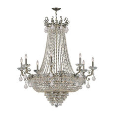 Crystorama Lighting 1488-HB-CL-MWP Majestic Traditional Chandelier
