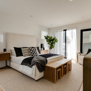 Example of a trendy bedroom design in Los Angeles