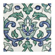 "SomerTile - SomerTile 7.75""x7.75"" Borough Ceramic Wall Tiles Gaia, Set of 25 - Tile"