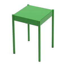 La Table Powder-Coated Steel Stool, Green