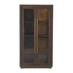 Line Wooden Display Cabinet