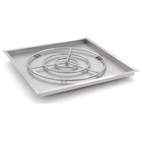 "Lakeview 36"" Square Drop-In Pan With 30"" Natural Gas Ring Burner"