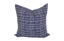 Herringbone Print Throw Pillow Cover, Navy Blue Color, 20 Inch