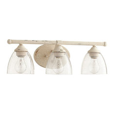 quorum brooks light vanity persian white with clear - Bathroom Vanity Light