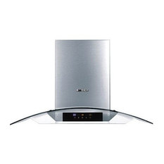 "FOTILE Wall-Mounted Kitchen Range Hood, 30"", Tempered Glass, Touch Screen"