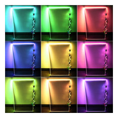 RGB LED Glass Edge Lighting Kit, 4pcs