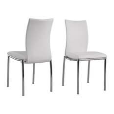Modern Side Dining Chairs Set Of 4 White