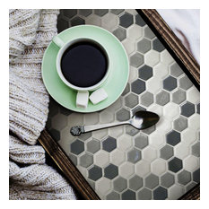 Gray Hexagon Tile Peel And Stick Backsplash