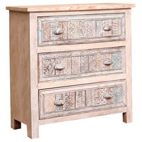 Oclaria Distressed Reclaimed Wood 3 Drawer Dresser