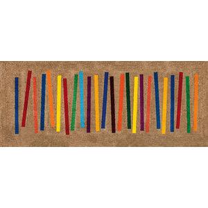 Mixed Stripes Door Mat, 200x80 cm