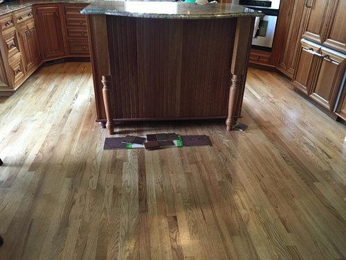 Restaining Finishing Hardwood Floor, Whitewash Cherry Cabinets