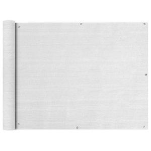vidaXL HDPE Balcony Screen, White, 90x600 cm