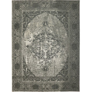 Meda Retro Floor Rug, Metallic Grey, 200x300 cm