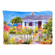 The Seaside Beach Cottage Fabric Standard Pillowcase Moisture Wicking Material Pillowcases And