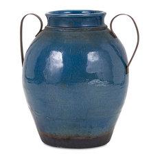 Harrisburg Vase With Metal Handle, Large