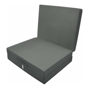 Futon Mattress in Polyester, Simple Modern Design, Foldable, Anthracite