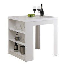 Square Counter Height Table, White