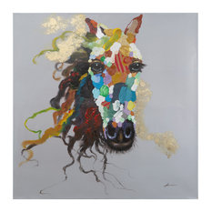 Horse Of An Abstract Color Art